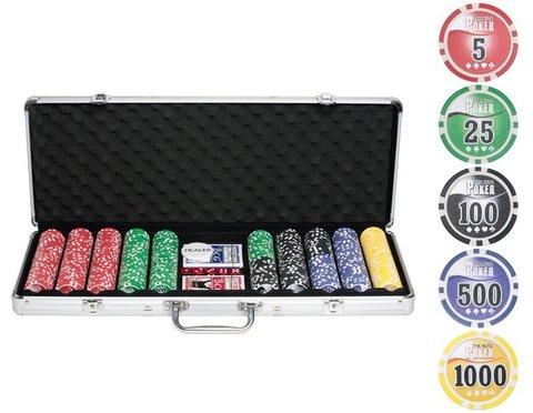Набор для покера NUTS на 500 фишек комплектация
