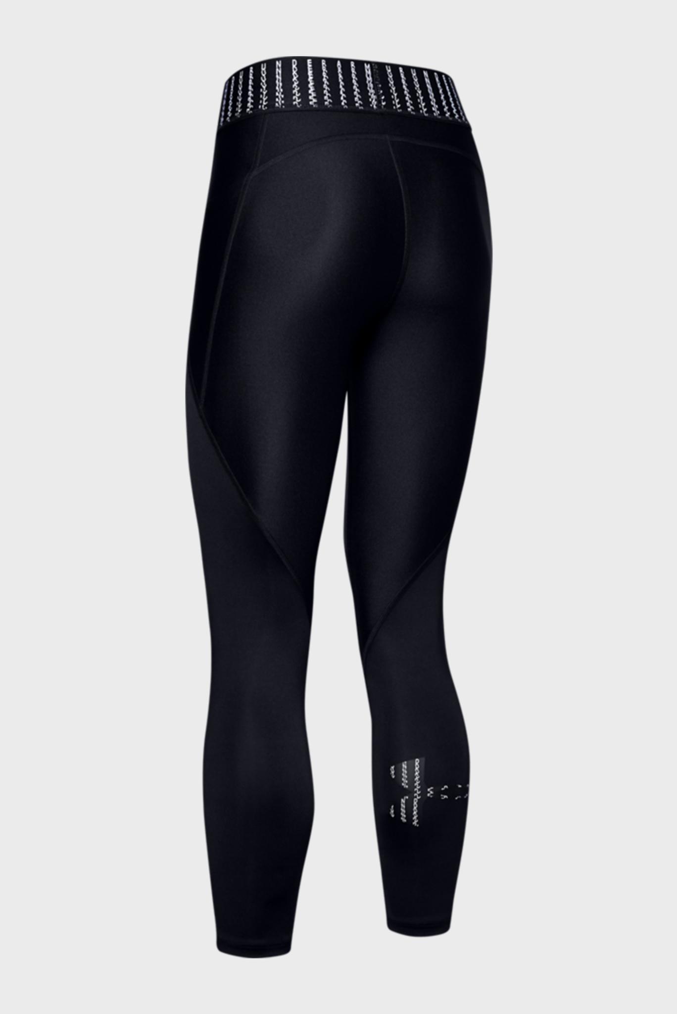 Женские черные спортивные тайтсы UA HG Armour Ankle Crop Colorblock Gr,SM Under Armour