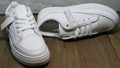Белые модные кроссовки туфли спортивные женские El Passo 820 All White.