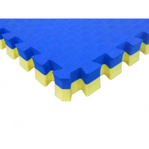 Мягкий пол Татами 40 мм ЭКО 120/661 желто-синий