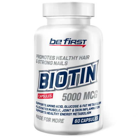 Be First Biotin, 60 капсул