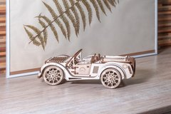 Родстер (Технократ) - Деревянный конструктор, сборная модель, 3D пазл