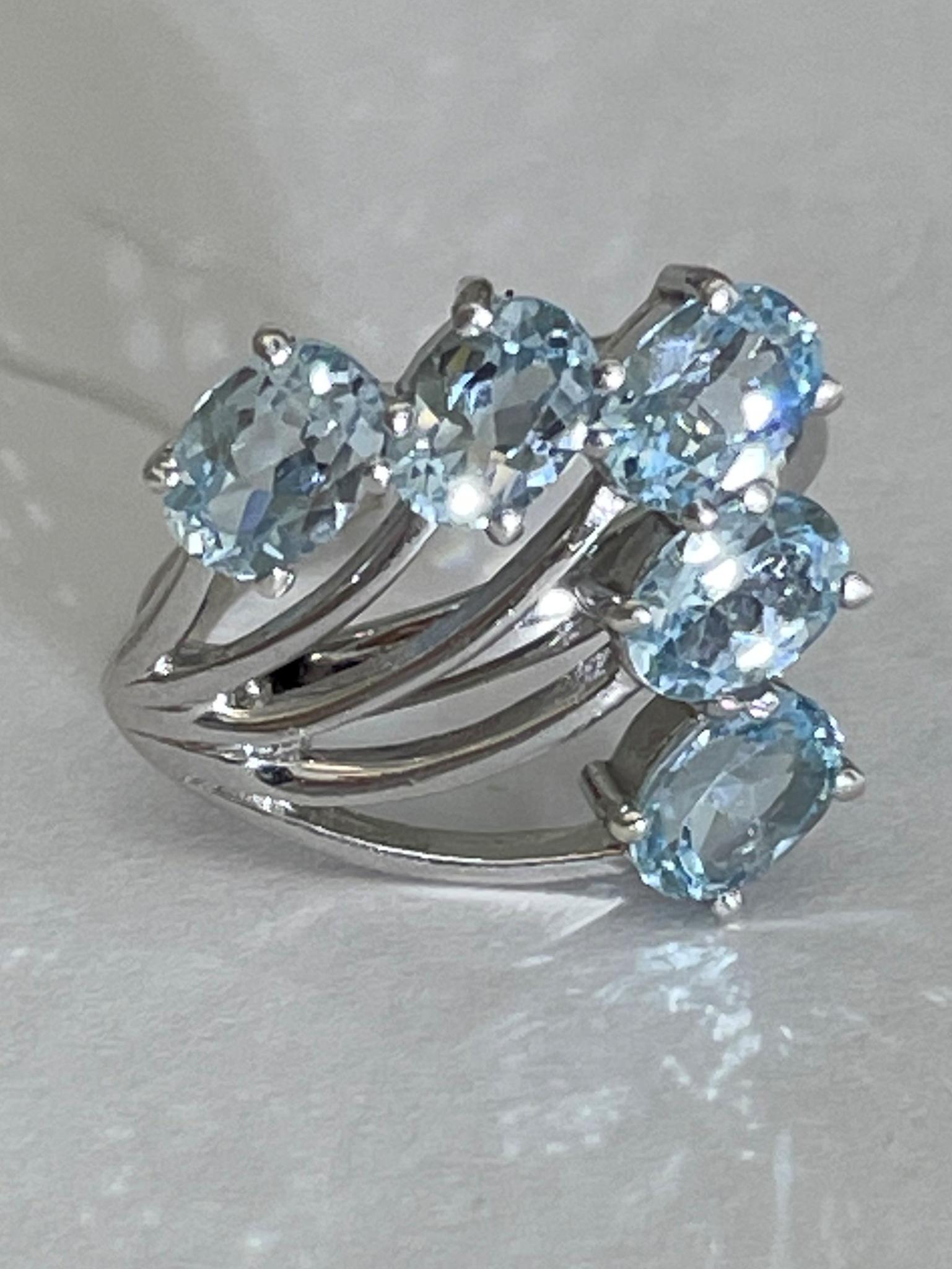 Топаз 6 (кольцо из серебра)