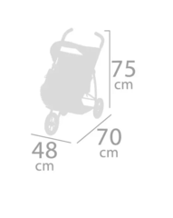 DeCuevas Прогулочная коляска джоггер для двух кукол, серия Фантазия океана, 75 см. (90341)
