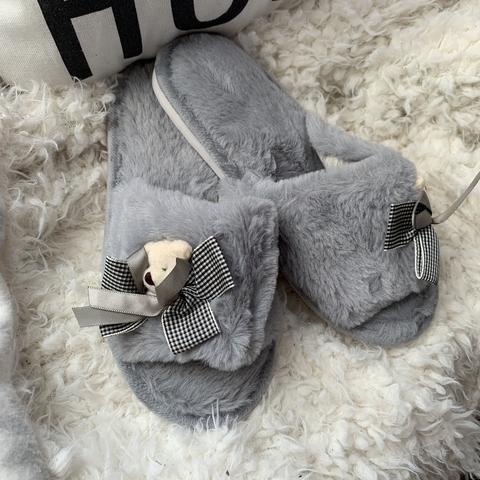 Тапочки Teddy bear /grey/ 36-37
