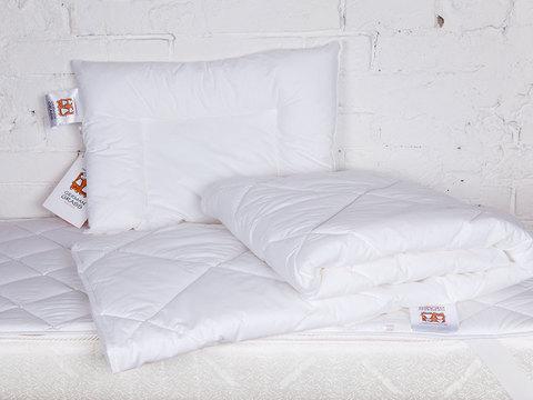 Комплект подушка + одеяло + наматрасник 100x150