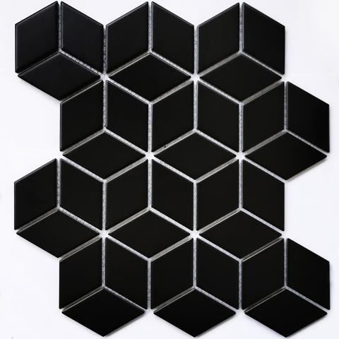 Мозаика керамическая Landa Black matt 267х309