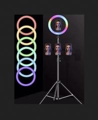 Кольцевая лампа со сменяемыми цветами подсветки