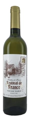 Вино Фестиваль де Франс столовое бел.сухое 0,7 л