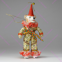 Ёлочная игрушка Медведь Клоун