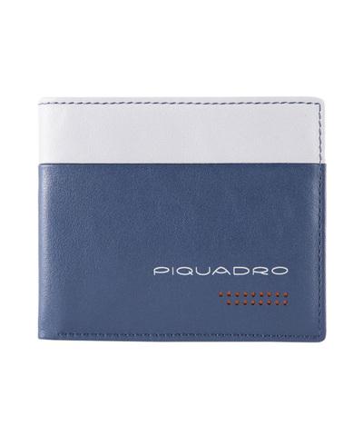 Кошелек Piquadro Urban, синий/серый, 8x10x1,5 см