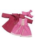 Пальто и платье - Цикламеновый. Одежда для кукол, пупсов и мягких игрушек.