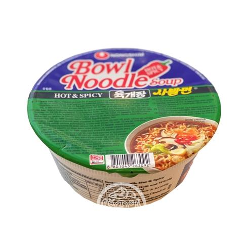 Лапша б/п NONGSHIM Bowl Noodle с острым вкусом hot&spicy сушеная 86г Южная Корея