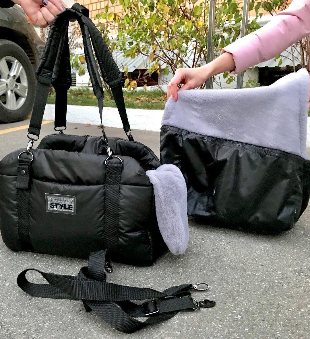 зимние сумки для собак