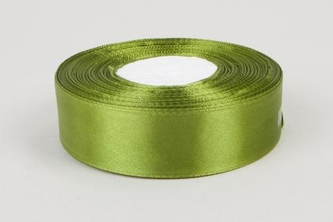 Лента атласная (размер 25 мм х 30 м) Цвет: оливковая