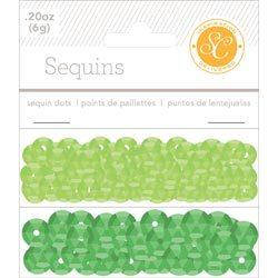 Пайетки Sequins зеленые