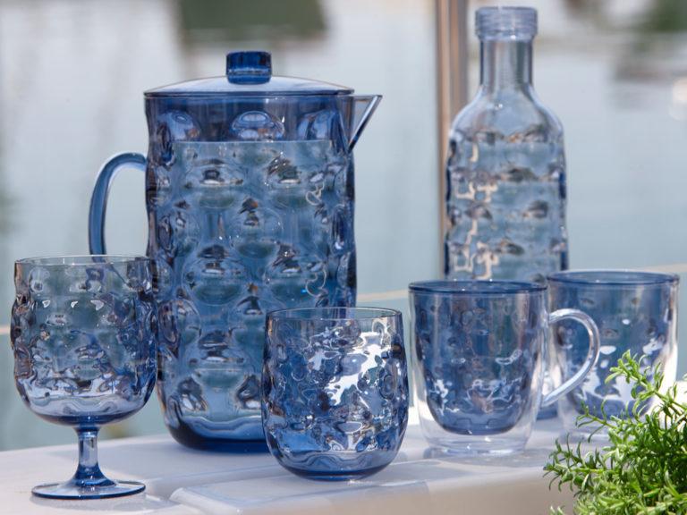 WINE GLASS, MOON – BLUE 6 UN