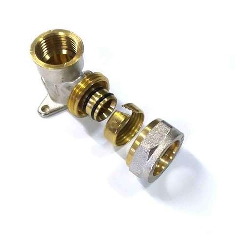 Угол обжимной настенный для металлопластиковых труб  20х1/2 внутренняя резьба Valve