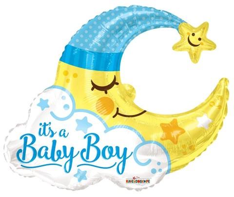 Фигура месяц It's a baby boy выписка мальчик