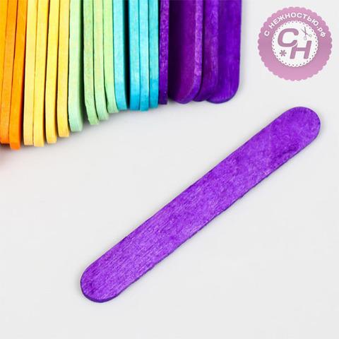 Палочки разноцветные деревянные, набор 25 шт, 6,5 см.