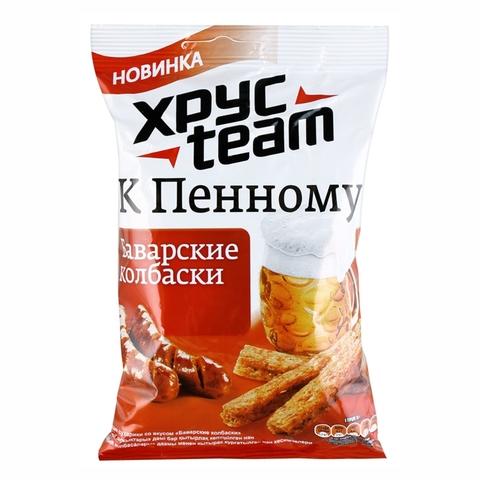 Сухарики XPYCTEAM Stix Баварские колбаски 75 г м/у РОССИЯ