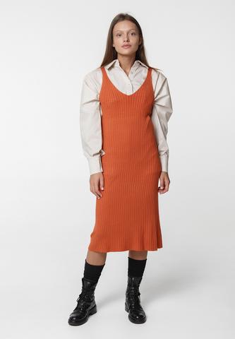 Платье лапша на бретелях