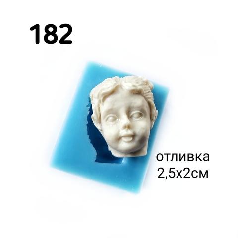 0182 Молд силиконовый. Лицо девочки.