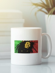 Кружка с рисунком Боб Марли (Bob Marley) белая 0011