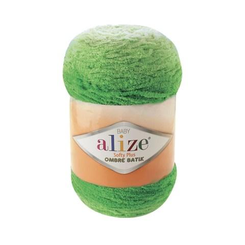 Купить Пряжа Alize Softy Plus Ombre Batik Цвет 7287 Салатовый | Интернет-магазин пряжи «Пряха»