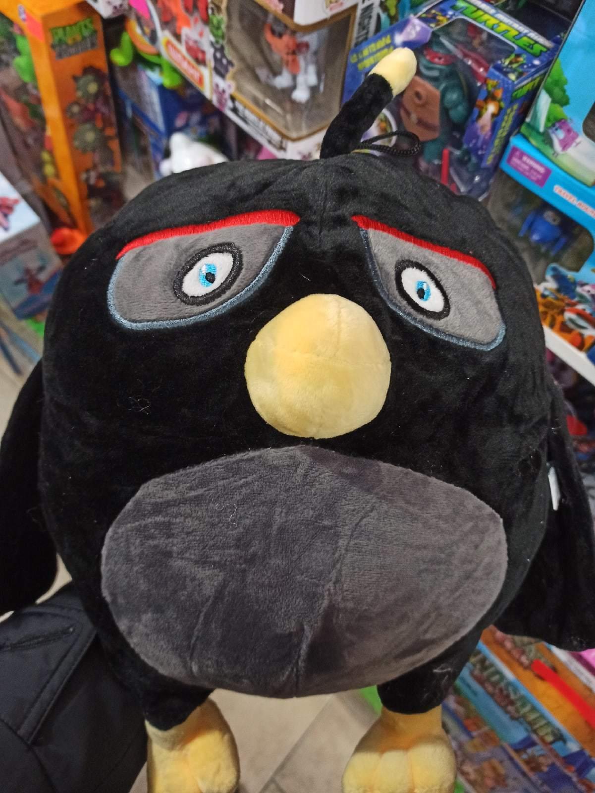 Энгри Бердс птица черная 40 см