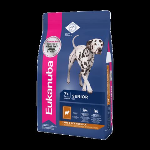 Eukanuba Senior All Breed Lamb & Rice Сухой корм для пожилых собак всех пород с ягненком