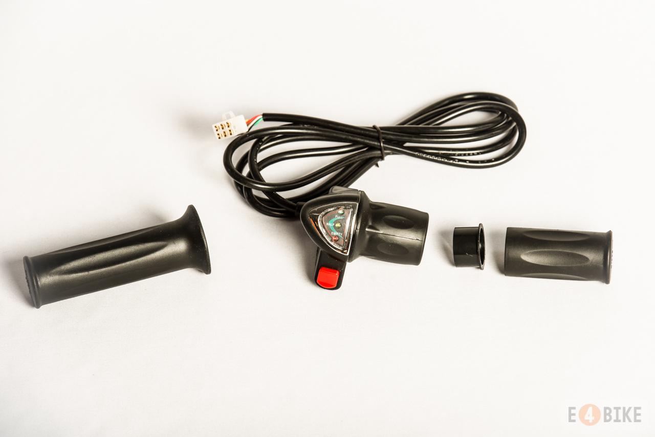 Ручка газа (под кисть) - Половинка с индикатором