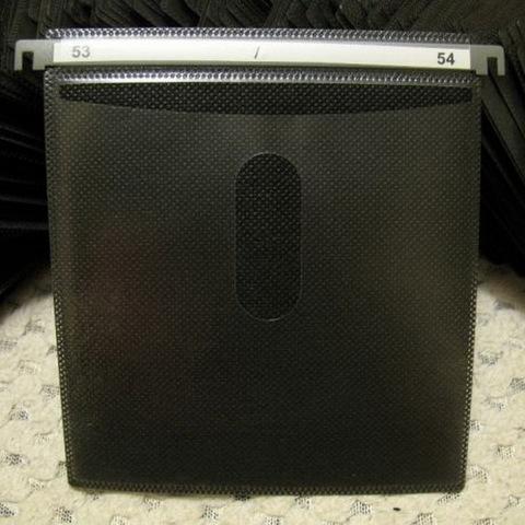 Конверт пластиковый двухсторонний для оптических дисков, чёрный