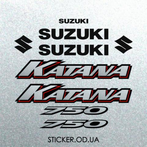 Набор наклеек на мотоцикл SUZUKI GSX-F 750 KATANA 2001