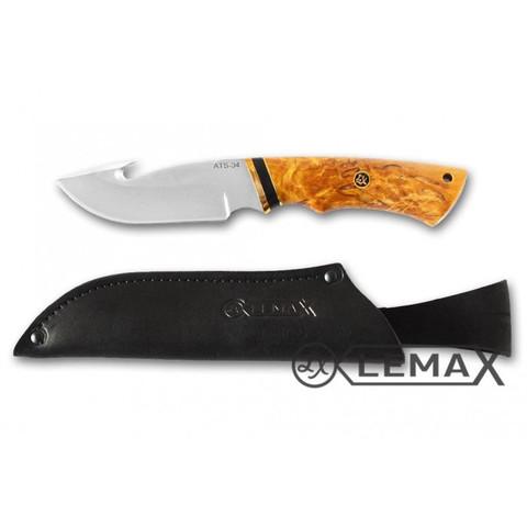 Нож Скиннер, ATS-34 , стабилизированная карельская берёза