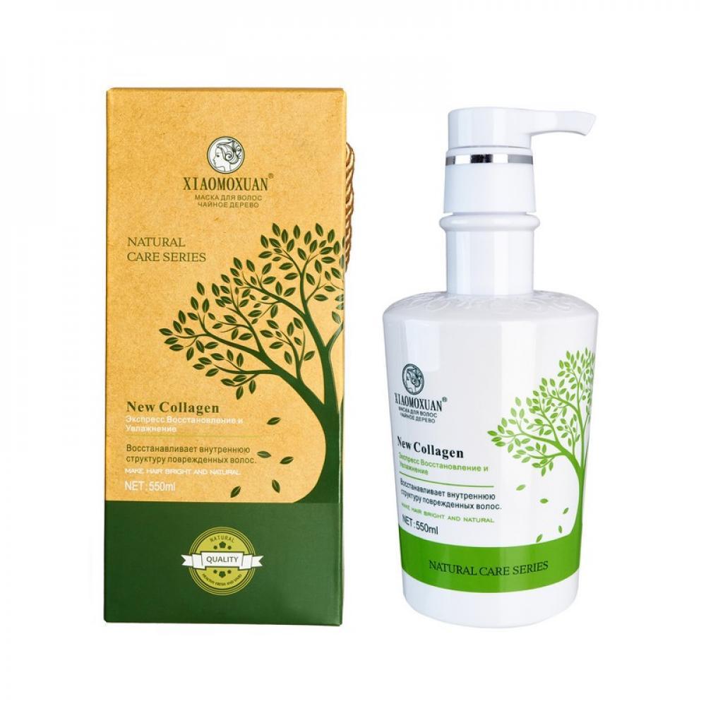 Маска для волос с чайным деревом и коллагеном XIAOMOXUAN Natural Care Series New Collagen 550 мл