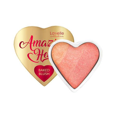 LavelleCollection Румяна запеченные 3-х цв. с шиммером HL-AH -04 Amazing heart тон 04 paradise peach