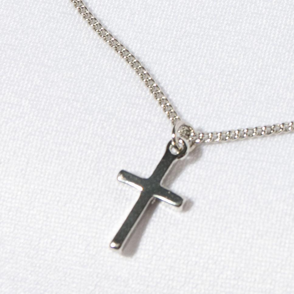 Кулон Крестик малый (серебристый)