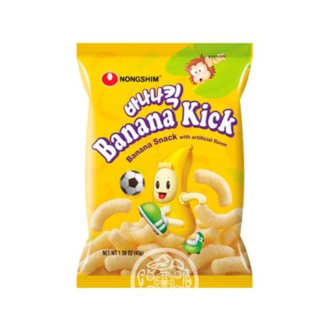 Чипсы NONGSHIM Banana kick со вкусом банана 45г Корея
