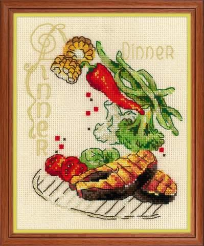 Набор для вышивания крестом «Обед» (1686)