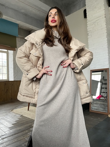 Теплая куртка из ветронепродуваемой ткани до -20 градусов