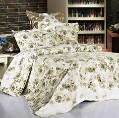 Сатиновое постельное бельё  1,5 спальное Сайлид  В-124