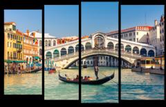 """Модульная картина """"Мост Риальто Венеция"""""""