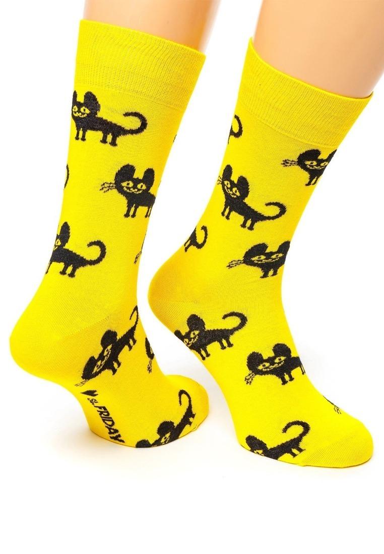 St. Friday Носки Charming cat Жёлтые