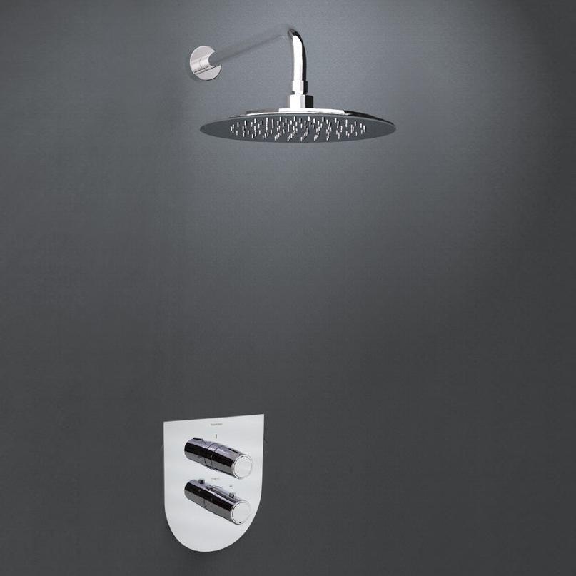 Встраиваемый термостатический смеситель для душа с душевым комплектом TZAR K3424012 на 1 выход