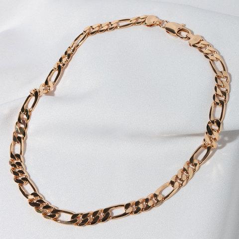 Цепь комбинированного плетения 9мм (золотистый)