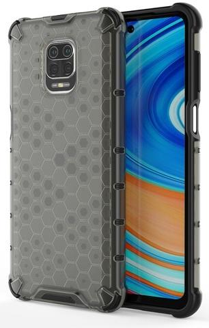 Двухкомпонентный чехол в тонированном корпусе для смартфона Xiaomi Redmi Note 9s и 9Pro от Caseport, серия Honey