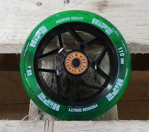 Колесо HIPE H01A 110мм black/transparent green