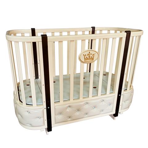 Кровать Антел Esenia 2 с кожаной вставкой автостенка, поперечный маятник, колесо