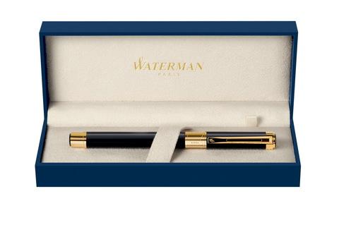 Перьевая ручка Waterman Perspective, цвет: Black GT, перо: F123